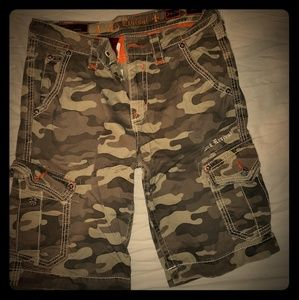 Rock revival cargo shorts